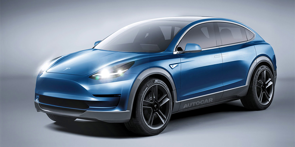 Tesla Model Y as imagined by Autocar